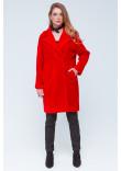 Жіноча шуба «Монро» червоного кольору