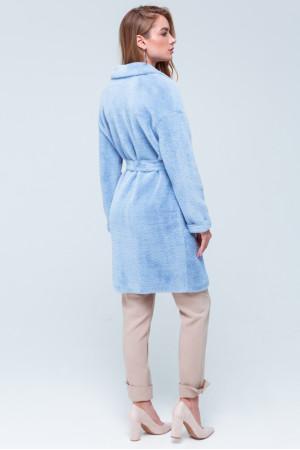 Женская шуба «Монро» голубого цвета