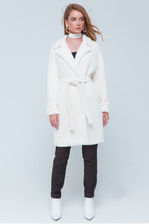 Жіноча шуба «Монро» білого кольору
