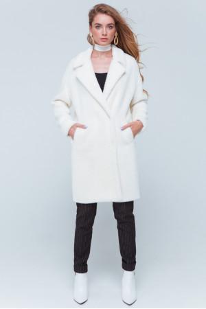 Женская шуба «Монро» белого цвета