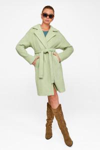 Жіноче пальто «Монро» фісташкового кольору