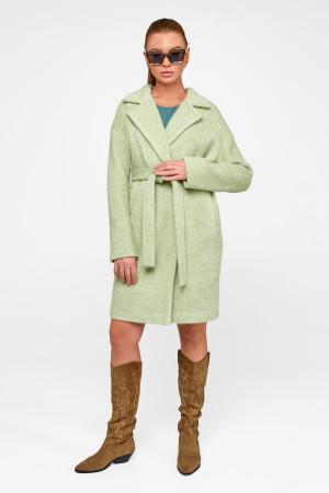 Женское пальто «Монро» фисташкового цвета
