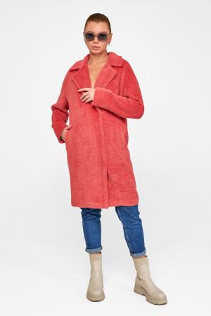 Жіноче пальто «Монро» коралового кольору
