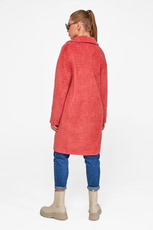 Женское пальто «Монро» кораллового цвета