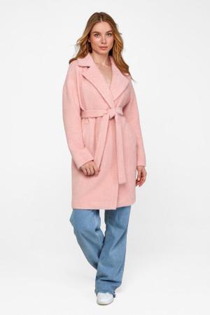 Женское пальто «Монро» розового цвета