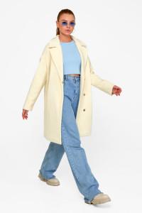 Жіноче пальто «Монро» ванільного кольору