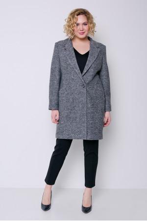 Женское пальто «Аида» темно-серого цвета