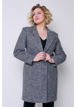Жіноче пальто «Аїда» темно-сірого кольору