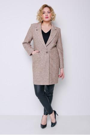 Женское пальто «Аида» бежевого цвета