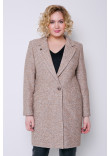 Жіноче пальто «Аїда» бежевого кольору