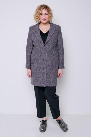 Женское пальто «Аида» серо-розового цвета