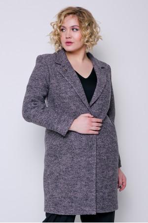 Жіноче пальто «Аїда» сіро-рожевого кольору