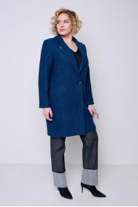 Женское пальто «Аида» цвета морской волны