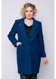 Жіноче пальто «Аїда» кольору морської хвилі