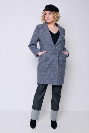 Женское пальто «Аида» серо-синего цвета