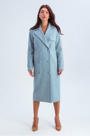 Жіноче пальто «Івона» блакитного кольору