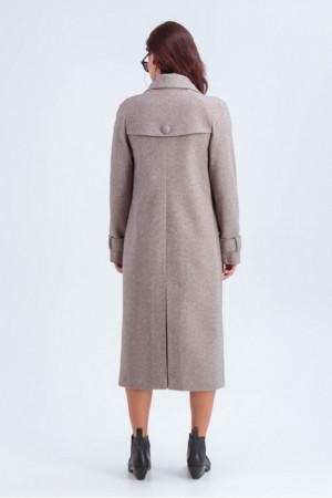 Жіноче пальто «Івона» кольору кави