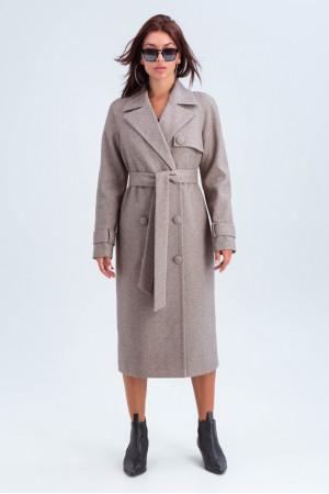 Женское пальто «Ивона» цвета кофе