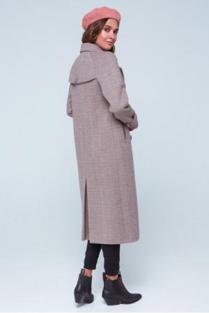 Жіноче пальто «Івона» кольору марсала