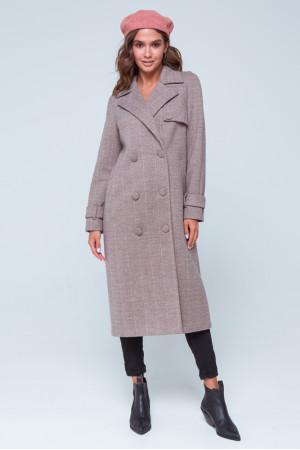 Женское пальто «Ивона» цвета марсала