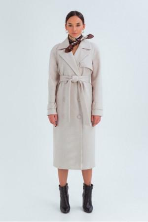 Женское пальто «Ивона» светло-бежевого цвета