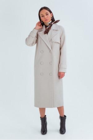 Жіноче пальто «Івона» світло-бежевого кольору