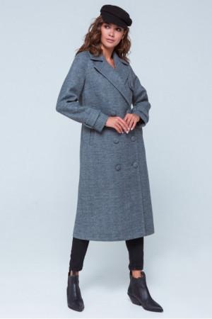 Женское пальто «Ивона» серого цвета