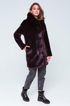 Женская шуба «Оникс» цвета бордо