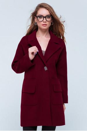 Жіноче пальто «Джуді» бордового кольору
