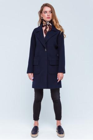 Женское пальто «Джуди» синего цвета