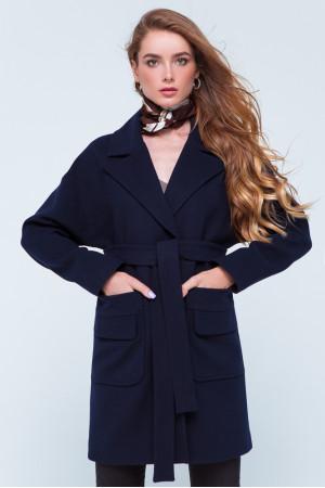 Жіноче пальто «Джуді» синього кольору