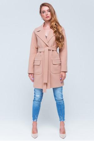 Женское пальто «Джуди» бежевого цвета