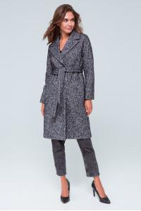 Жіноче пальто «Симона» чорно-білого кольору