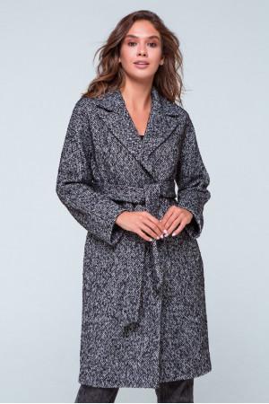 Женское пальто «Симона» черно-белого цвета