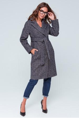 Женское пальто «Симона» сине-бежевого цвета