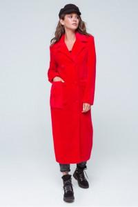 Жіноче пальто «Скарлетт» червоного кольору