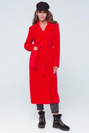 Женское пальто «Скарлетт» красного цвета