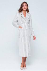 Жіноче пальто «Скарлетт» сіро-білого кольору