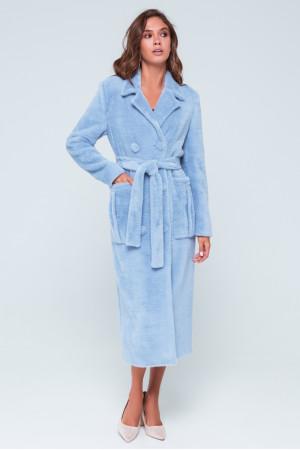 Женское пальто «Скарлетт» голубого цвета