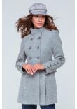 Жіноче пальто «Ембер» сірого кольору