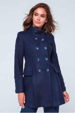 Жіноче пальто «Ембер» синього кольору