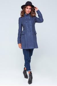 Женское пальто «Эмбер» серо-голубого цвета