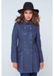 Жіноче пальто «Ембер» сіро-блакитного кольору