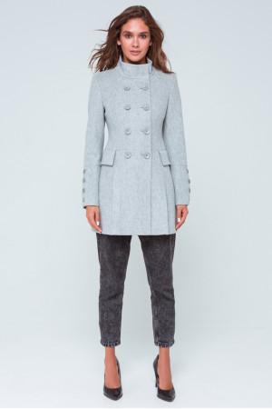 Женское пальто «Эмбер» светло-серого цвета