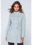 Жіноче пальто «Ембер» світло-сірого кольору