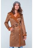 Жіноча дублянка «Жизель» коричневого кольору