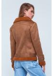 Жіноча дублянка «Синтія» коричневого кольору