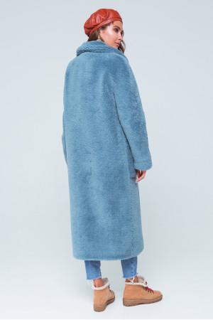 Женское пальто «Леона» голубого цвета