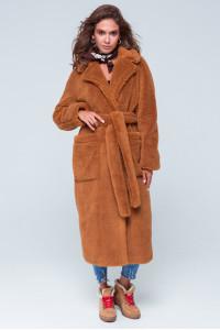 Жіноче пальто «Леона» коричневого кольору