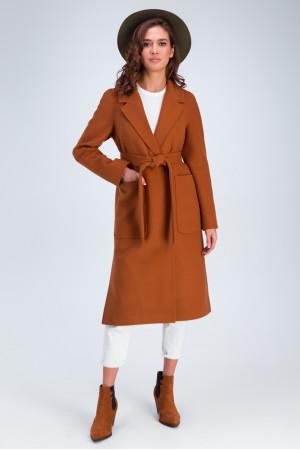 Женское пальто «Дельфина» цвета кэмел
